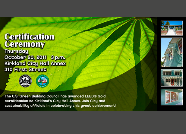 Leed Certification Award Invitation