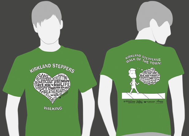 Kirkland Steppers-T-Shirt Design 2012